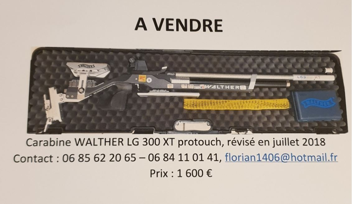 Vente carabine walther lg 300 xt protouch vig